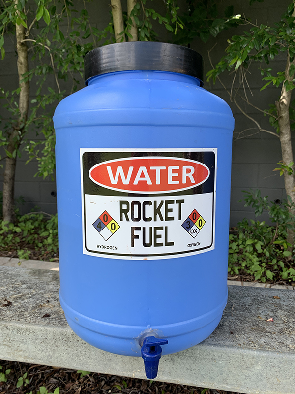Rocket fuel water